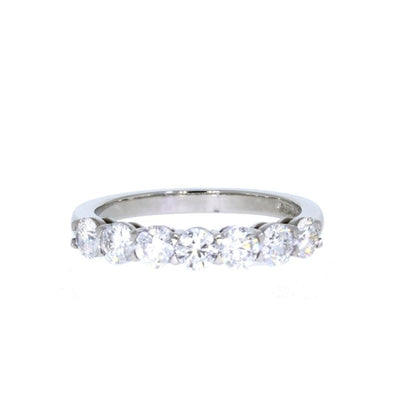 Diamond Half Hoop Eternity Ring in Platinum-Hamilton & Inches
