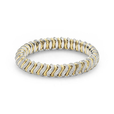 Fope Flex'it Vendome Diamond Bracelet in 18ct White Gold - Hamilton & Inches