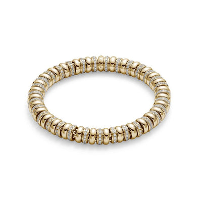 Fope Flex'it Solo Bracelet in 18ct Yellow Gold-Hamilton & Inches