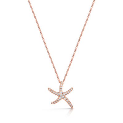 Starfish Pendant in 18ct Rose Gold (Small) - Hamilton & Inches