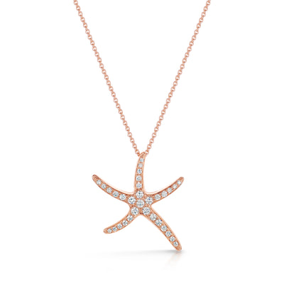 Starfish Pendant in Rose Gold (Large) - Hamilton & Inches