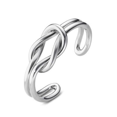 Georg Jensen Love Knot Bangle in Sterling Silver-Hamilton & Inches