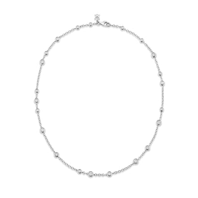 Dewdrop Diamond Necklet in White Gold - Hamilton & Inches