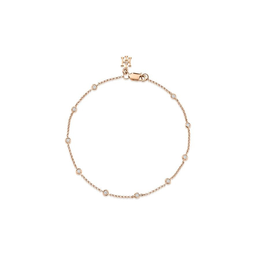 Dewdrop Diamond Bracelet in Rose Gold - Hamilton & Inches