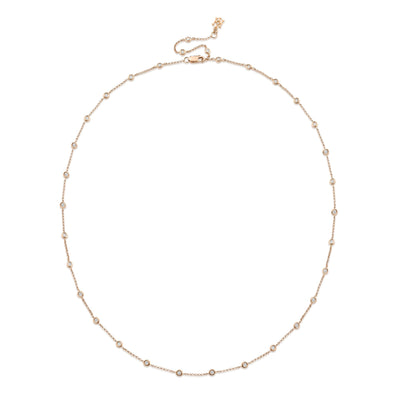 Dewdrop Diamond Necklace in Rose Gold - Hamilton & Inches