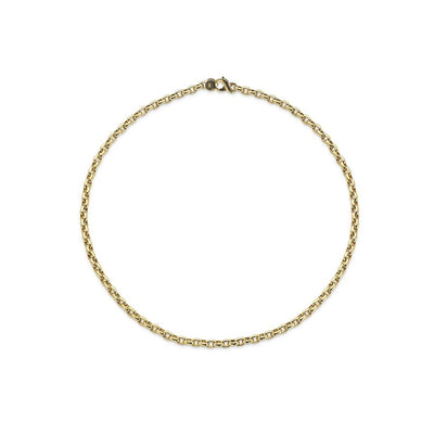 Curved Oval Link Necklace-Hamilton & Inches