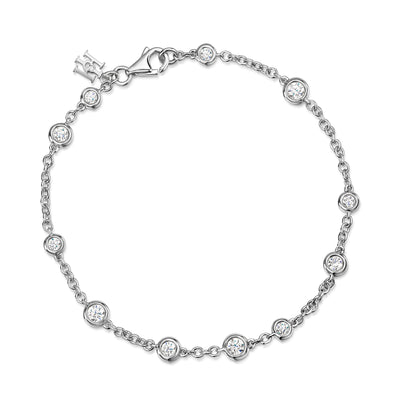 Dewdrop Diamond Bracelet In 18ct White Gold-Hamilton & Inches