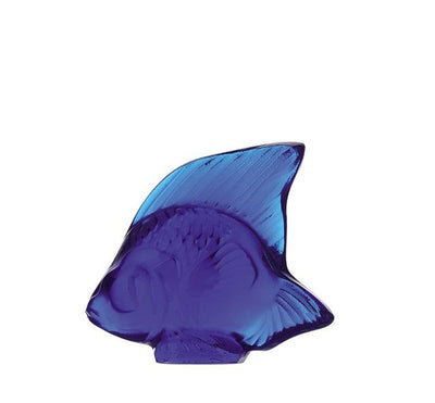 Lalique Aquatic Poisson in Cap-Ferrat Blue - Hamilton & Inches