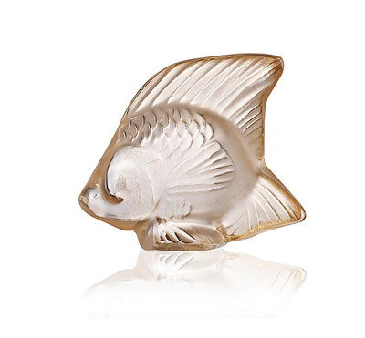 Lalique Aquatic Poisson in Gold Luster - Hamilton & Inches