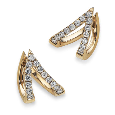 ROSE GOLD V COLLECTION EARRINGS-Hamilton & Inches