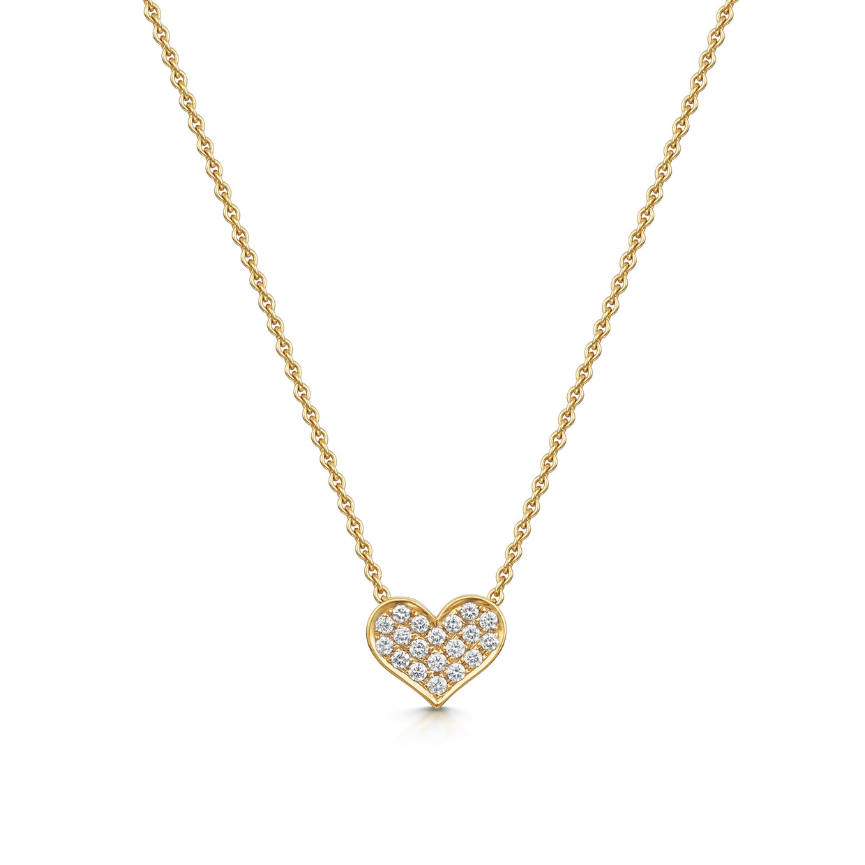 Heart Shaped Diamond Pendant in 18ct Rose Gold-Hamilton & Inches