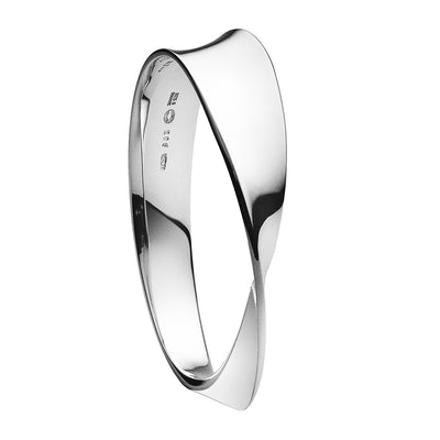 Georg Jensen Sterling Silver Möbius Bangle - Hamilton & Inches
