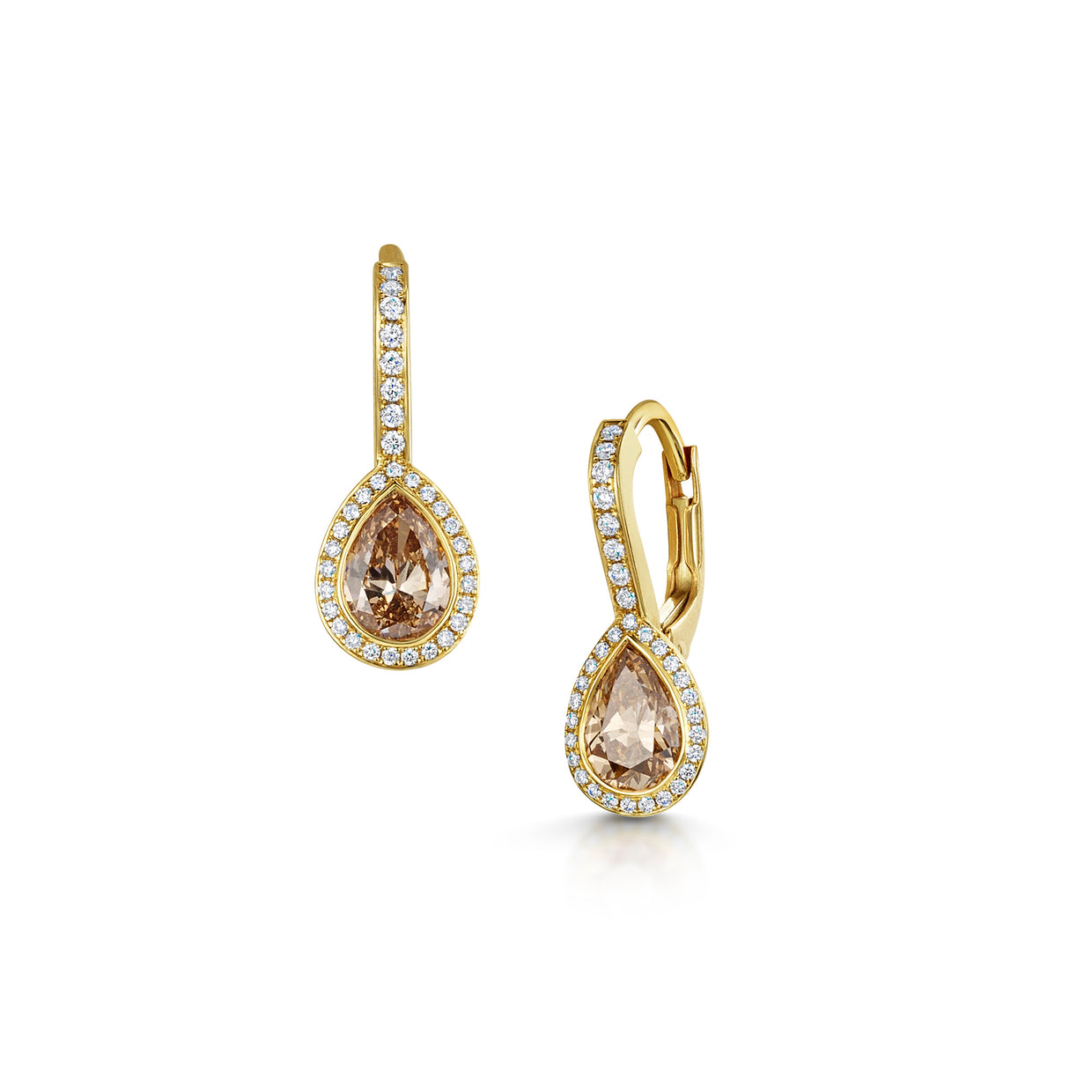 Diamond Drop Earrings in 18ct Rose Gold - Hamilton & Inches