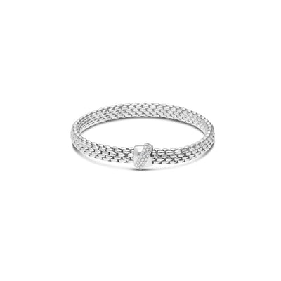 Fope Flex'it Vendome Bracelet in 18ct White Gold - Hamilton & Inches