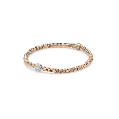 Fope Eka Tiny Bracelet in 18ct Rose Gold-Hamilton & Inches