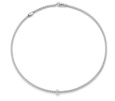 FOPE Eka Tiny Diamond Necklace in 18ct White Gold - Hamilton & Inches