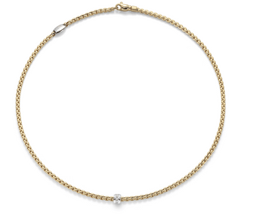 FOPE Eka Tiny Diamond Necklace in 18ct Yellow Gold - Hamilton & Inches