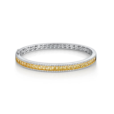 Yellow Diamond Bracelet in 18ct White Gold-Hamilton & Inches