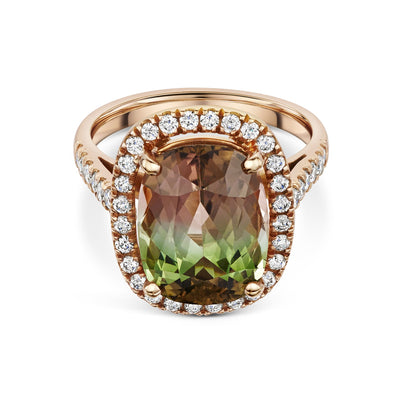 Cluster Ring in 18ct Rose Gold-Hamilton & Inches