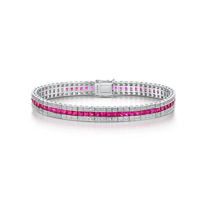8.87ct Ruby Bracelet in 18ct White Gold - Hamilton & Inches