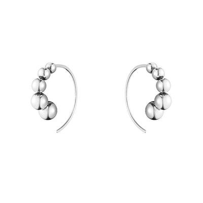 Georg Jensen Moonlight Grapes Hoop Earrings in Sterling Silver-Hamilton & Inches