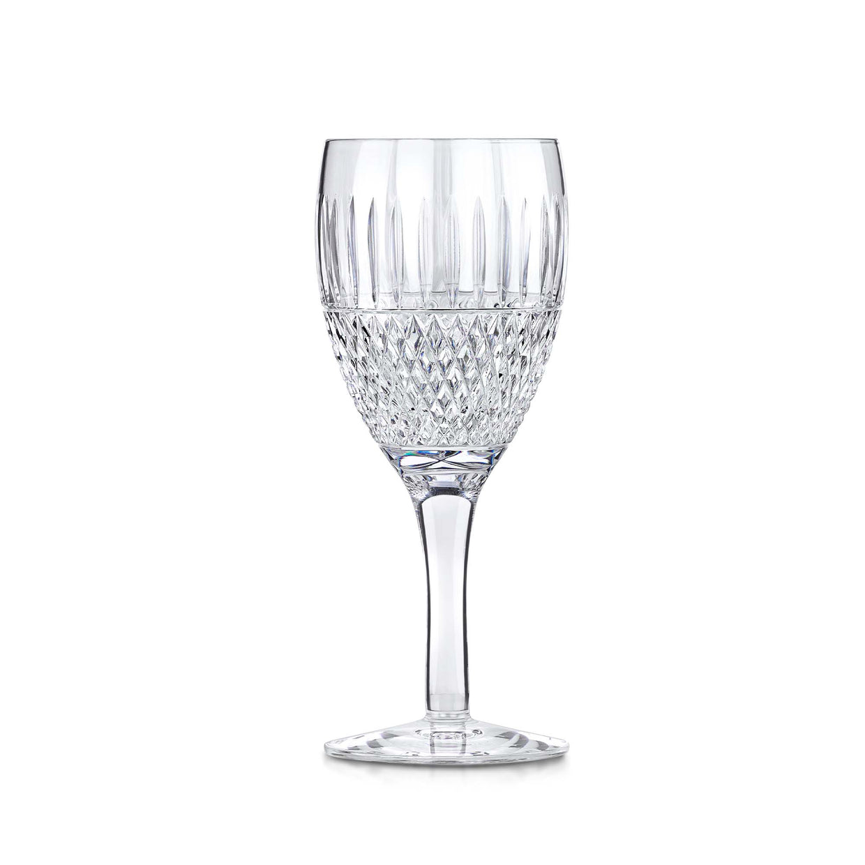 Thistle Cut Wine Glass-Hamilton & Inches