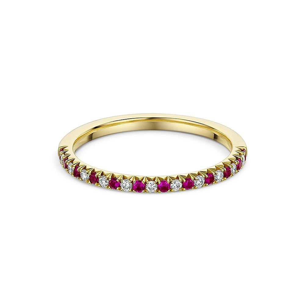 Ruby and Diamond Eternity Ring in 18ct Yellow Gold - Hamilton & Inches