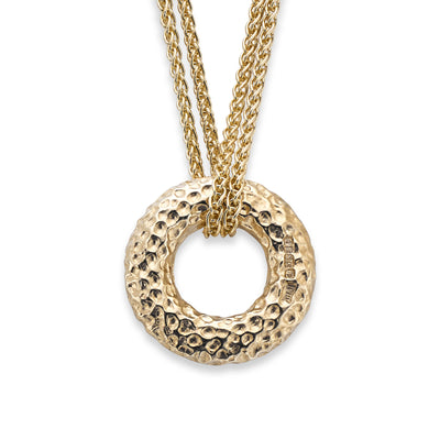 Hamilton & Inches Donut Pendant in 9ct Yellow Gold - Hamilton & Inches
