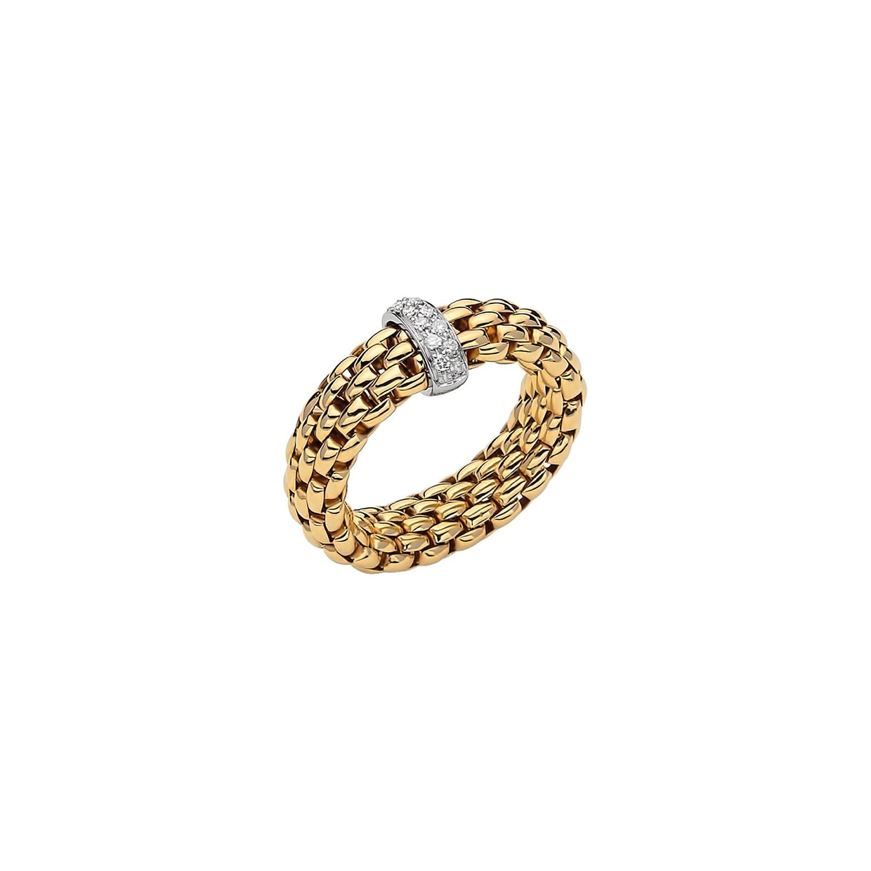 FOPE Vendome Ring Set in 18ct Yellow Gold-Hamilton & Inches