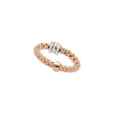 FOPE Prima Ring in 18ct Rose Gold - Hamilton & Inches