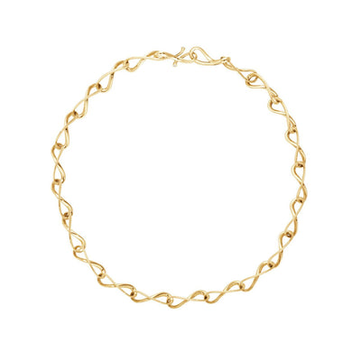 Georg Jensen Infinity Necklet in 18ct Yellow Gold - Hamilton & Inches