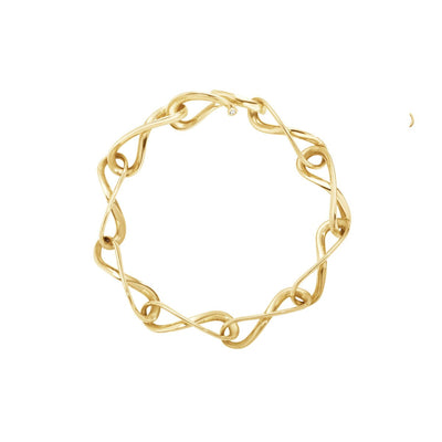 Georg Jensen Infinity Bracelet in 18ct Yellow Gold - Hamilton & Inches