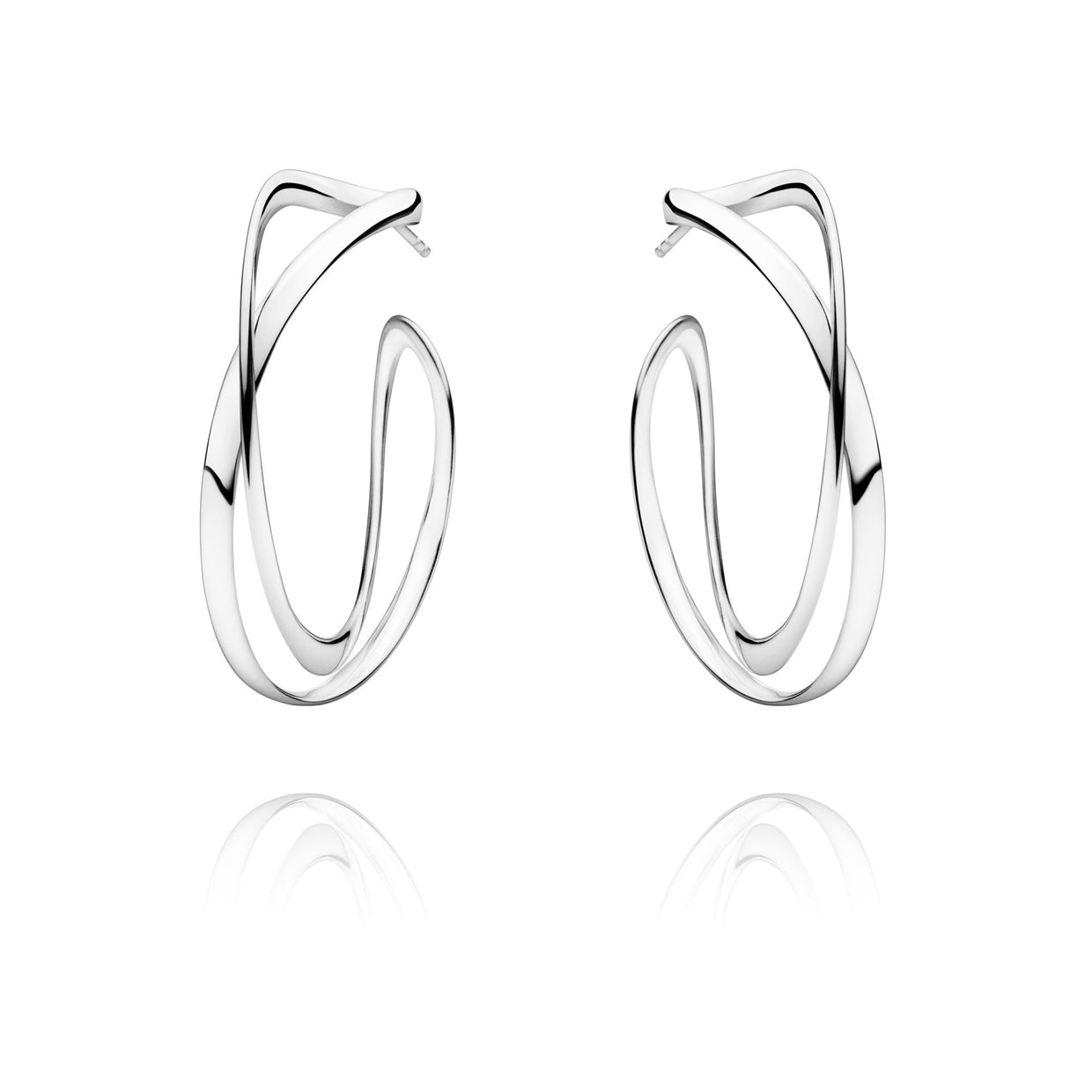 Georg Jensen Infinity Hoop Earrings in Sterling Silver-Hamilton & Inches
