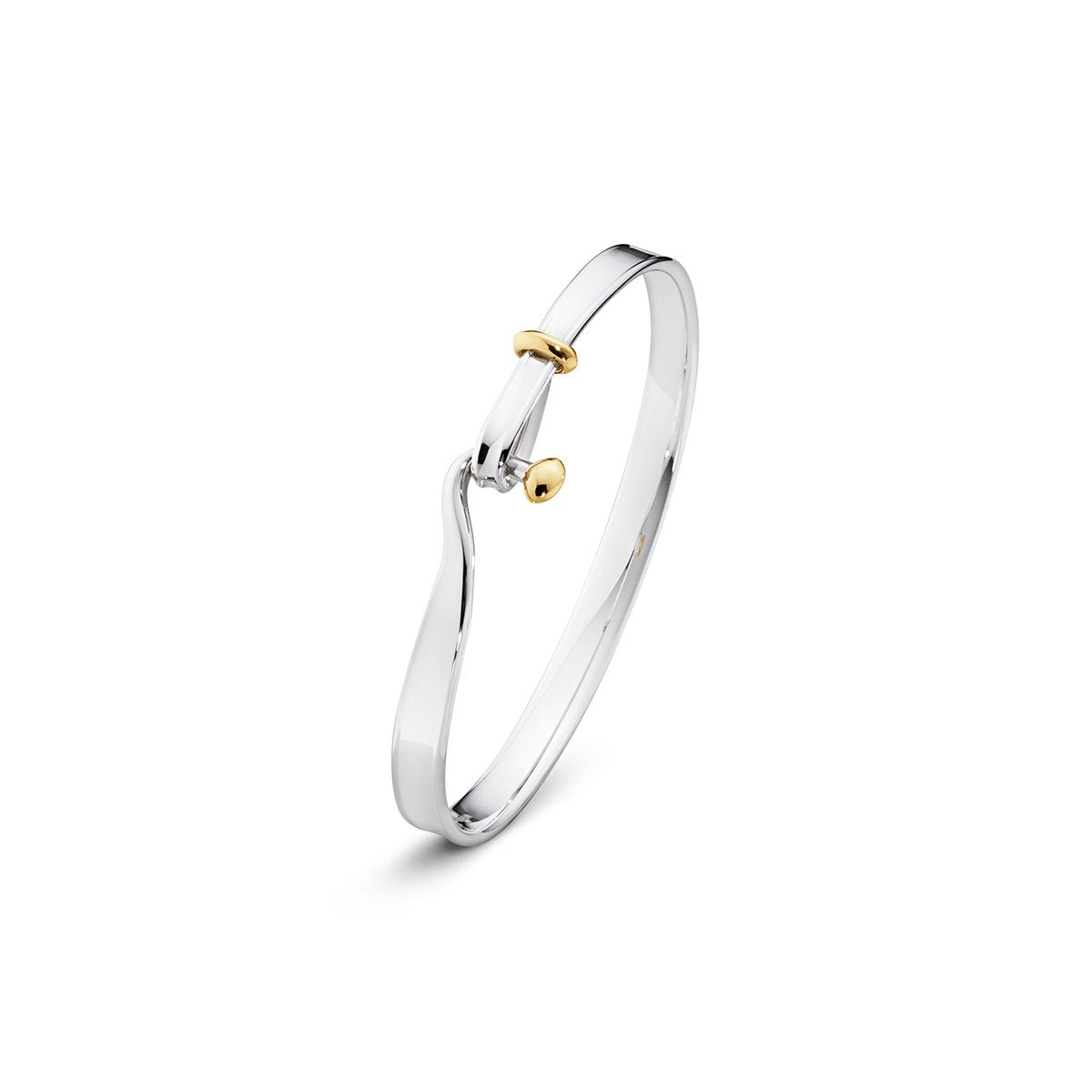 Georg Jensen Vivianna Torun Bangle in 18ct Yellow Gold & Sterling Silver-Hamilton & Inches
