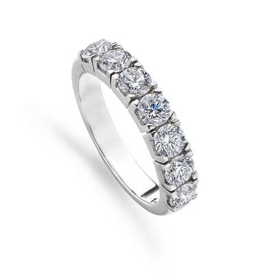 Platinum & 7 Diamond Half Eternity Ring - Hamilton & Inches