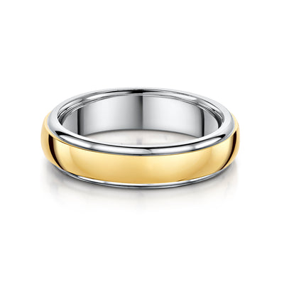 5mm D Shaped Wedding Ring in Platinum - Hamilton & Inches