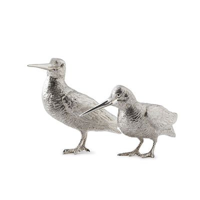 Sterling Silver Pair of Woodcocks - Hamilton & Inches