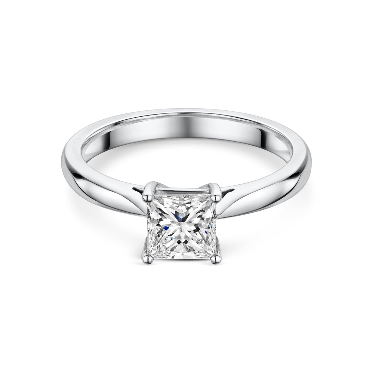 1ct Diamond Solitaire Engagement Ring in Platinum-Hamilton & Inches
