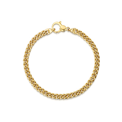Heavy Gold Bracelet in 18ct Yellow Gold-Hamilton & Inches