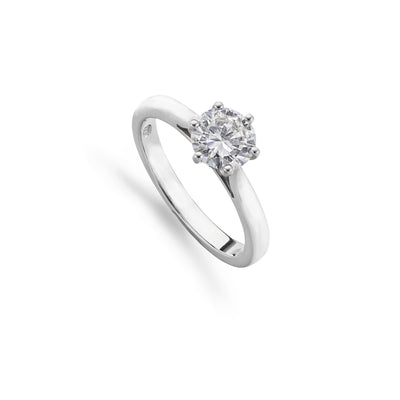 Platinum Single Stone Diamond 1.00ct Engagement Ring-Hamilton & Inches