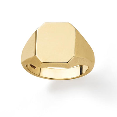 Octagonal Signet Ring in 9ct Yellow Gold-Hamilton & Inches