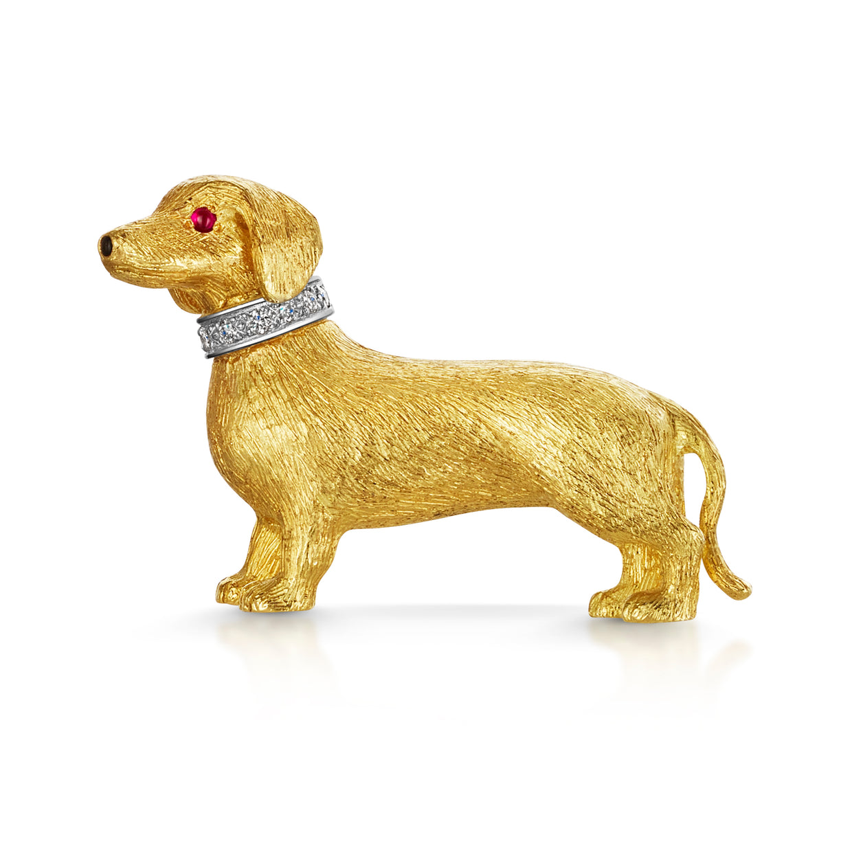 Dachshund Brooch in Yellow Gold - Hamilton & Inches