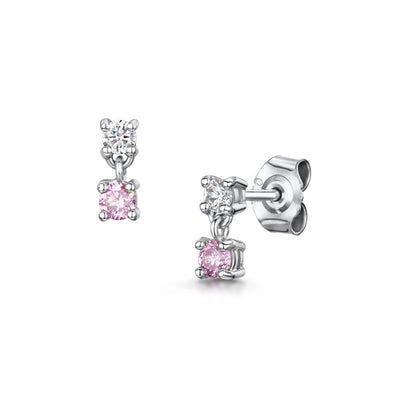 Pink Diamond Drop Earrings in 18ct White Gold-H & I-Hamilton & Inches