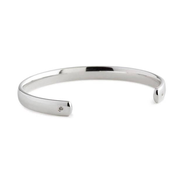 Sterling Silver Diamond Torq Baby Bangle - Hamilton & Inches