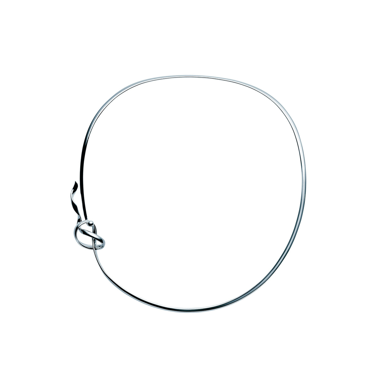 Georg Jensen Forget Me Knot Neckring in Sterling Silver - Hamilton & Inches