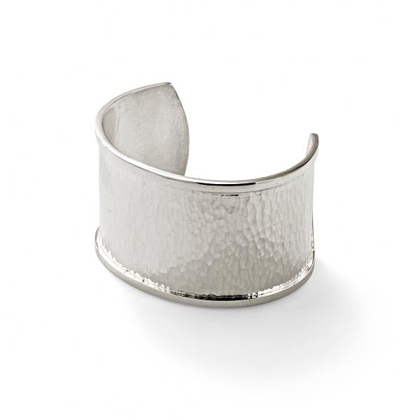Hamilton & Inches Hammered Cuff In Sterling Silver