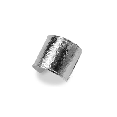Hamilton & Inches Open Hammered Cuff in Sterling Silver-Hamilton & Inches