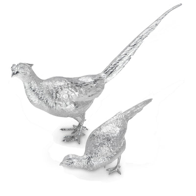Sterling Silver Pair of Pheasants-Hamilton & Inches