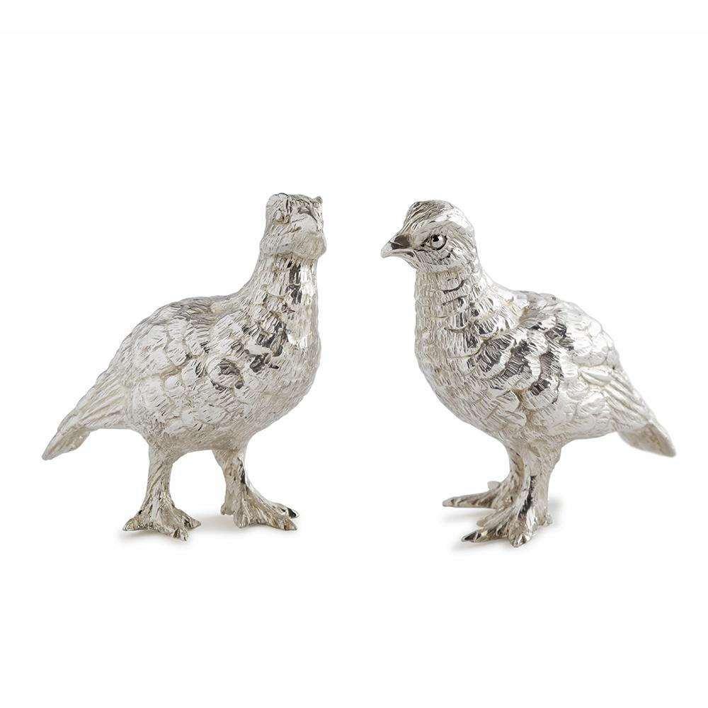 Sterling Silver Pair of Small Grouse-Hamilton & Inches