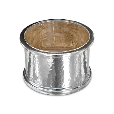 Sterling Silver Tall Hammered Coaster-Hamilton & Inches